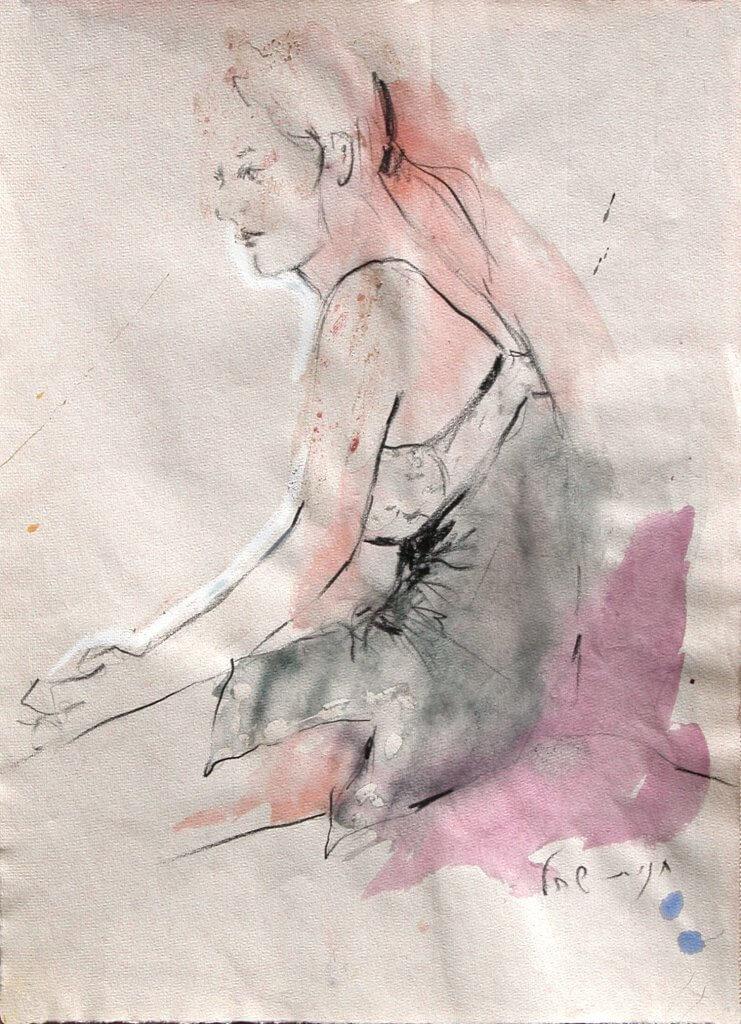 נערה, רישום צבע - חגית שחל