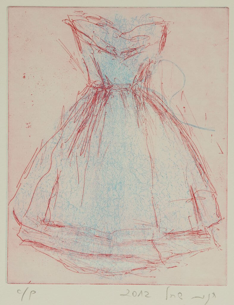 שמלה, תחריט - חגית שחל